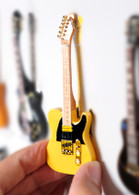 "Rock and Roll History V08 Bruce Springsteen Natural Wood 4"" Miniature Guitars with Magnet Visual Compendium of Guitar"