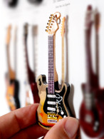 """Rock and Roll History V23 Stevie Ray Vaughan SRV#1 4"""" Miniature Guitar with Magnet Visual Compendium of Guitar"""