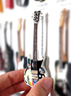 """Rock and Roll History V27 Joan Jett Melody M 4"""" Miniature Guitar with Magnet Visual Compendium of Guitar"""