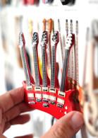 "Rock and Roll History V53 Rick NL C Trix 5 Necks 4"" Miniature Guitar with Magnet Visual Compendium of Guitar"