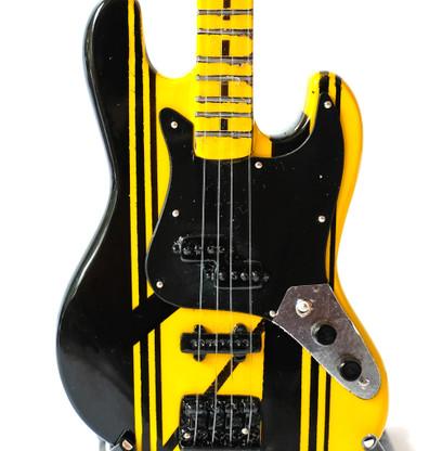 STRYPER Perry Richard Bass A God Damn Evil Guitar Miniature Collectible