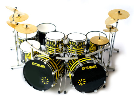 STRYPER Robert Sweet Miniature Drums Replica God Damn Evil Collectible