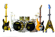 STRYPER Miniature Guitar Bass and Drums Set of 4 God Damn Evil Awesome Collectible