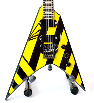 Officially Licensed STRYPER Michael Sweet Parallaxe MS Guitar Miniature Collectible