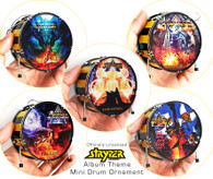 "Officially Licensed STRYPER Miniature Drums Ornament Set of 5 1. New Release ""Even the Devil Believes"" 2. God Damn Evil 3. FALLEN 4. No More Hell to Pay 5. To Hell with the Devil"