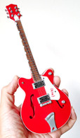 Bono U2 Red Miniature Guitar Replica Collectible