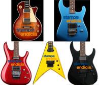 Stamp Com Custom Awards Miniature Guitar 100 pcs