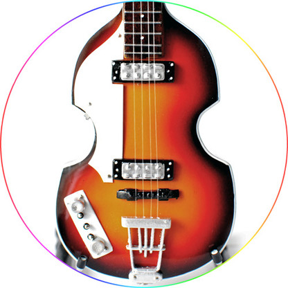 Paul McCartney Beatles Miniature Hofner Bass Guitar Replica Collectible