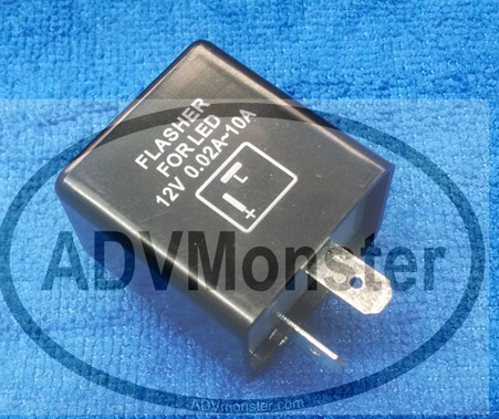 Two pin LED flasher
