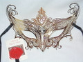 Gold Farf. Metallo Gossip Girl Venetian Mask SKU: 014Z