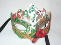 Red & White Deco Primavera Venetian Mask. SKU 012ZR