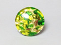 Green Gold Murano Glass Venetian Ring Jewelry SKU 22MG