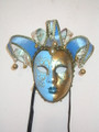 Jolly Richi Lillo Light Blue Venetian Masquerade Mask SKU 292jlb
