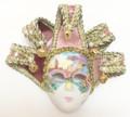 Pink Jollini Miniature Ceramic Venetian Mask SKU P124
