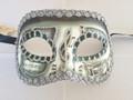 Sage Green Colombina Pergamena/Silver Trim Venetian Mask SKU 026