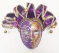 Purple & Gold Venetian Lillo Masquerade Mask SKU 291pug