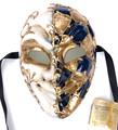Blue Joker Mamo Venetian Masquerade Mask SKU 174