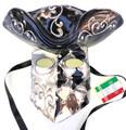 Black Silver Casanova Mamo Venetian Mask. SKU 171