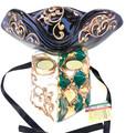 Green Gold Casanova Mamo Venetian Mask. SKU 171