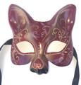 Red Gold Cat Gatto Star Venetian Masquerade Cat Mask SKU 69