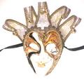 Gold Joker Decoro Punte Maxi Venetian Masquerade Mask SKU N488