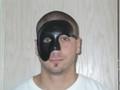 Black Leather Tagliata Phantom Venetian Mask SKU A230R