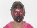 Red Volto Maria Rosa Venetian Mask SKU 090mr