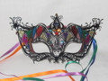 Black Metalo Colore Venetian Mask  SKU 030Z
