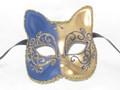 Blue Gatto Lillo Venetian Masquerade Cat Mask SKU 062lbl