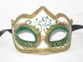 Green Colombina Punta Linea Venetian Masquerade Mask SKU P179-1
