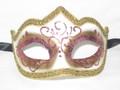 Pink Colombina Punta Linea Venetian Masquerade Mask SKU P179-1