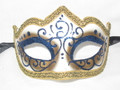Blue Colombina Punta Linea Venetian Masquerade Mask SKU P179-1
