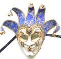 Royal Blue Gold Music Joker Sinfonia Venetian Masquerade Mask SKU 381jblu