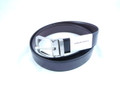 Giorgio Armani Black Brown Reversible Calf Leather Belt GA11