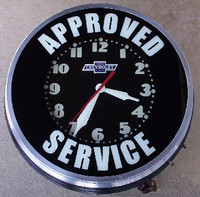 VINTAGE CUSTOM CHEVROLET CLOCK