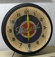 ORIGINAL PACKARD NEON CLOCK
