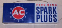 AC SPARK PLUG LIGHTED CLOCK