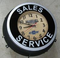 OLD NEON CHEVROLET DEALER CLOCK