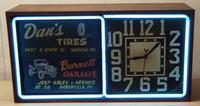 ORIGINAL NEON ADVERTISING FLIP CLOCK