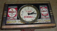KENDALL OIL SPINNER NEON CLOCK