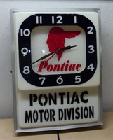 PONTIAC DEALER LIGHTED CLOCK