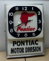 PONTIAC DEALER LIGHTED CLOCK