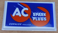 AC SPARK PLUGS MOLDED SIGN