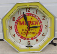 MOPAR DEALER NEON CLOCK ORIGINAL