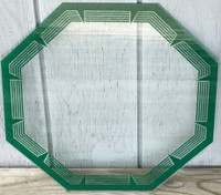 HEXAGON GREEN NEON CLOCK GLASS