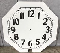 8 SIDED CLEVELAND WHITE NEON CLOCK FACE