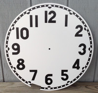 WHITE CLEVELAND BULLET REPLACEMENT CLOCK FACE