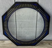 NPI SPINNER BLUE NEON CLOCK GLASS