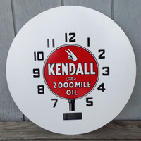 KENDALL OIL NEON CLOCK FACE NEOCRAFT