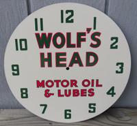 WOLF'S HEAD LACKNER NEON CLOCK FACE